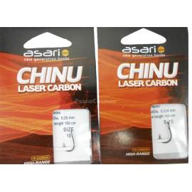 Anzuelos montados Chinu Laser Carbon