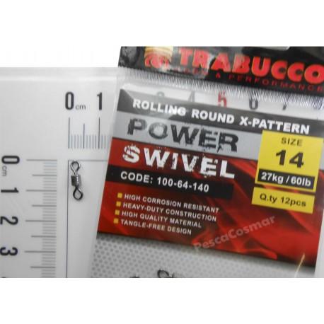 Emerillón Trabucco Power Swivel Round X-Pattern
