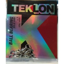 Emerillon Teklon Ball Bearing Solid Ring Sin Imperdible