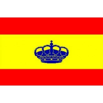 Bandera española con corona embarcación