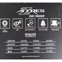 Carrete Okuma Azores XP 16000P