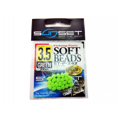 Perlas Sunset Stonfo Beads ST-P-242 Green