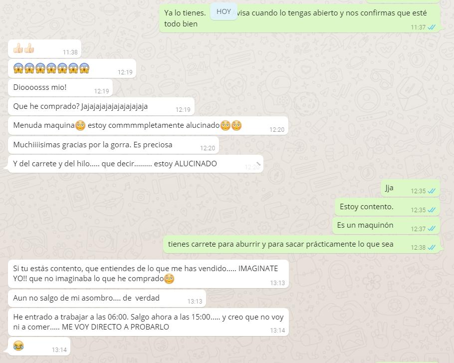 opinión whatsapp pescacosmar