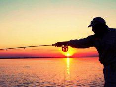 movimiento de la caña en la pesca a spinning